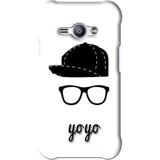 Snooky Printed Yo Yo Mobile Back Cover For Samsung Galaxy Ace J1 - White