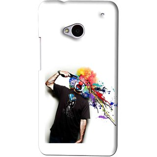 Snooky Printed Shooting Joker Mobile Back Cover For HTC One M7 - White