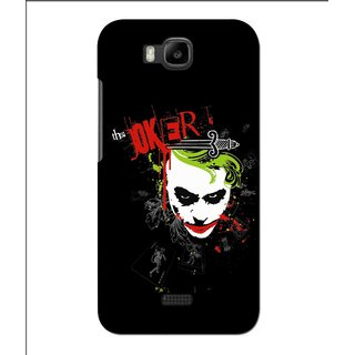 Snooky Printed The Joker Mobile Back Cover For Huawei Y560 - Black