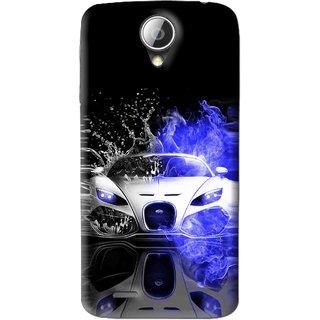 Snooky Printed Super Car Mobile Back Cover For Lenovo A830 - Black