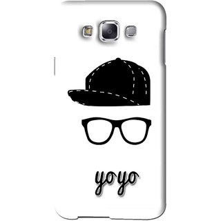 Snooky Printed Yo Yo Mobile Back Cover For Samsung Galaxy E5 - White