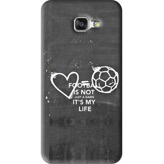 Snooky Printed Football Life Mobile Back Cover For Samsung Galaxy A5 2016 - Black