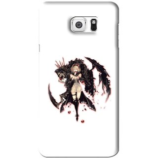 Snooky Printed Kungfu Girl Mobile Back Cover For Samsung Galaxy Note 6 - White