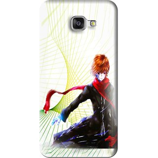 Snooky Printed Stylo Boy Mobile Back Cover For Samsung Galaxy A5 2016 - Multi