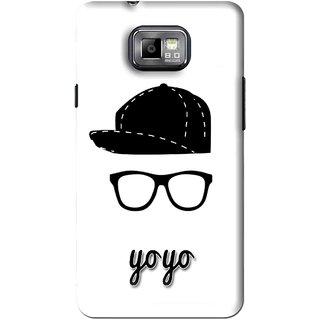 Snooky Printed Yo Yo Mobile Back Cover For Samsung Galaxy S2 - White