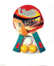 Pankaj table Tennis Racket combo (set of 2 Racket +3balls)