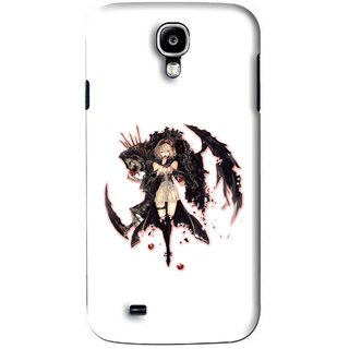 Snooky Printed Kungfu Girl Mobile Back Cover For Samsung Galaxy S4 - White