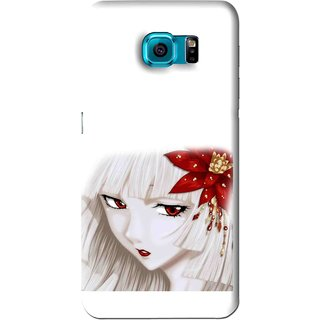 Snooky Printed Chinies Girl Mobile Back Cover For Samsung Galaxy S6 - White