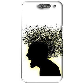 Snooky Printed Music Fond Mobile Back Cover For Infocus M812 - White