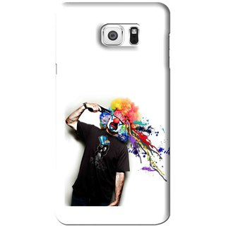Snooky Printed Shooting Joker Mobile Back Cover For Samsung Galaxy Note 6 - White