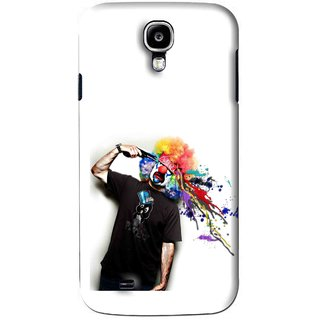 Snooky Printed Shooting Joker Mobile Back Cover For Samsung Galaxy S4 - White