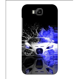 Snooky Printed Super Car Mobile Back Cover For Huawei Y560 - Black