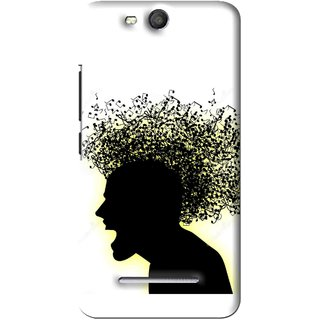 Snooky Printed Music Fond Mobile Back Cover For Micromax Bolt Q392 - White