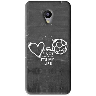 Snooky Printed Football Life Mobile Back Cover For Meizu M2 - Black