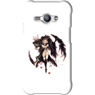Snooky Printed Kungfu Girl Mobile Back Cover For Samsung Galaxy Ace J1 - White