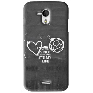 Snooky Printed Football Life Mobile Back Cover For Micromax Canvas HD A116 - Black