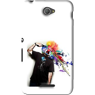 Snooky Printed Shooting Joker Mobile Back Cover For Sony Xperia E4 - White