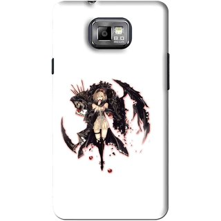 Snooky Printed Kungfu Girl Mobile Back Cover For Samsung Galaxy S2 - White