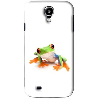 Snooky Printed Frog Mobile Back Cover For Samsung Galaxy S4 - White