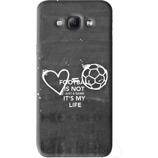 Snooky Printed Football Life Mobile Back Cover For Samsung Galaxy A8 - Black