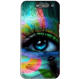 Snooky Printed Designer Eye Mobile Back Cover For Infocus M812 - Multi