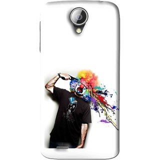 Snooky Printed Shooting Joker Mobile Back Cover For Lenovo A830 - White