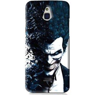 Snooky Printed Freaking Joker Mobile Back Cover For Infocus M2 - Black
