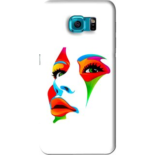 Snooky Printed Modern Girl Mobile Back Cover For Samsung Galaxy S6 - White