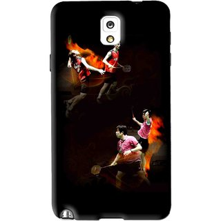 Snooky Printed Sports Player Mobile Back Cover For Samsung Galaxy Note 3 - Black