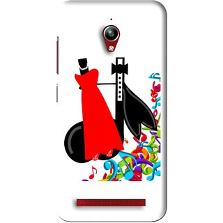 Snooky Printed Fashion Mobile Back Cover For Asus Zenfone Go - white