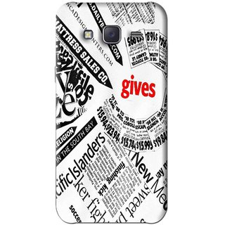 Snooky Printed Newspaper Mobile Back Cover For Samsung Galaxy J5 - White