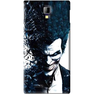 Snooky Printed Freaking Joker Mobile Back Cover For Micromax Canvas Xpress A99 - Black