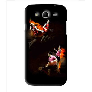 Snooky Printed Sports Player Mobile Back Cover For Samsung Galaxy Mega 5.8 - Black