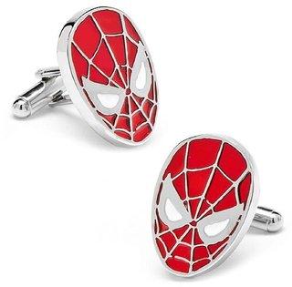 The Jewelbox Spider Man Red Formal Shirt Cufflinks Pair for Men Gift Box