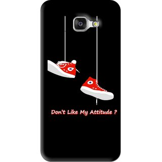 Snooky Printed Attitude Mobile Back Cover For Samsung Galaxy A5 2016 - Black