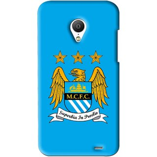 Snooky Printed Eagle Logo Mobile Back Cover For Meizu MX3 - Blue