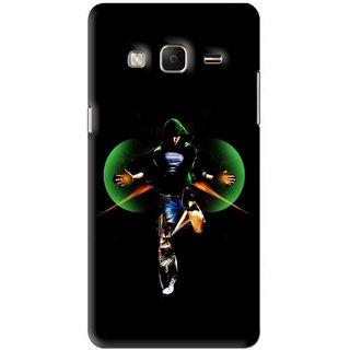 Snooky Printed Hero Mobile Back Cover For Samsung Tizen Z3 - Black