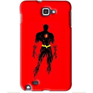 Snooky Printed Electric Man Mobile Back Cover For Samsung Galaxy Note 1 - Red