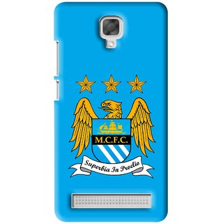 Snooky Printed Eagle Logo Mobile Back Cover For Micromax Bolt Q331 - Blue