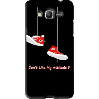 Snooky Printed Attitude Mobile Back Cover For Samsung Galaxy Grand Prime - Black