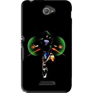 Snooky Printed Hero Mobile Back Cover For Sony Xperia E4 - Black
