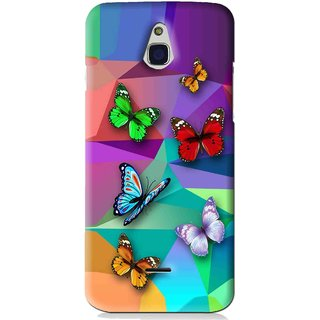 Snooky Printed Trendy Buterfly Mobile Back Cover For Infocus M2 - Multi