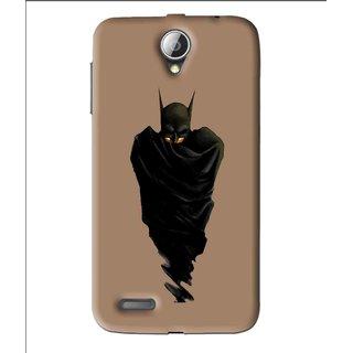 Snooky Printed Hiding Man Mobile Back Cover For Lenovo A850 - Brown