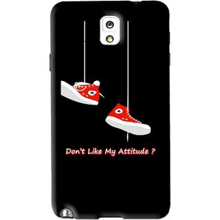 Snooky Printed Attitude Mobile Back Cover For Samsung Galaxy Note 3 - Black