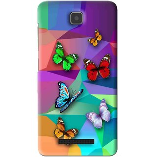 Snooky Printed Trendy Buterfly Mobile Back Cover For Lenovo A1900 - Multi