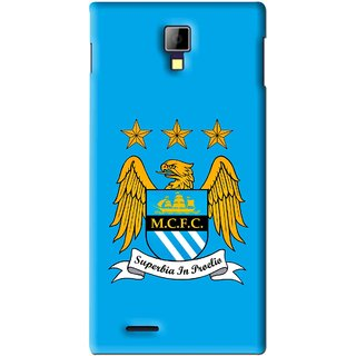 Snooky Printed Eagle Logo Mobile Back Cover For Micromax Canvas Xpress A99 - Blue