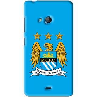 Snooky Printed Eagle Logo Mobile Back Cover For Microsoft Lumia 540 - Blue