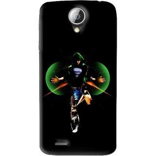 Snooky Printed Hero Mobile Back Cover For Lenovo S820 - Black