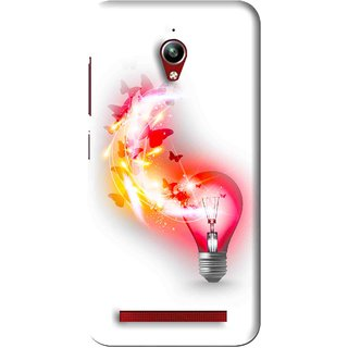 Snooky Printed Butterly Bulb Mobile Back Cover For Asus Zenfone Go - White