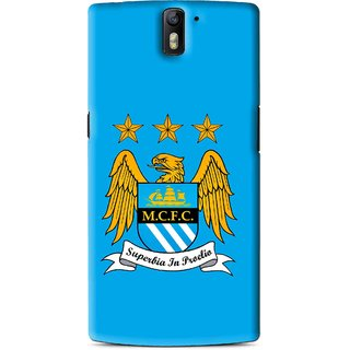 Snooky Printed Eagle Logo Mobile Back Cover For OnePlus One - Blue